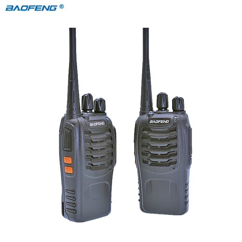 2 unids baofeng bf-888s Walkie-talkies Radios transceptor portátil UHF CB Radios s jamón BF 8 s comunicador ESTÉREO