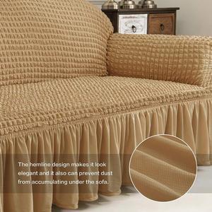 Image 5 - Nieuwe Elastische Sofa Cover 3D Plaid Hoes Universele Furniture Covers Met Elegante Rok Voor Woonkamer Fauteuil Couch Sofa