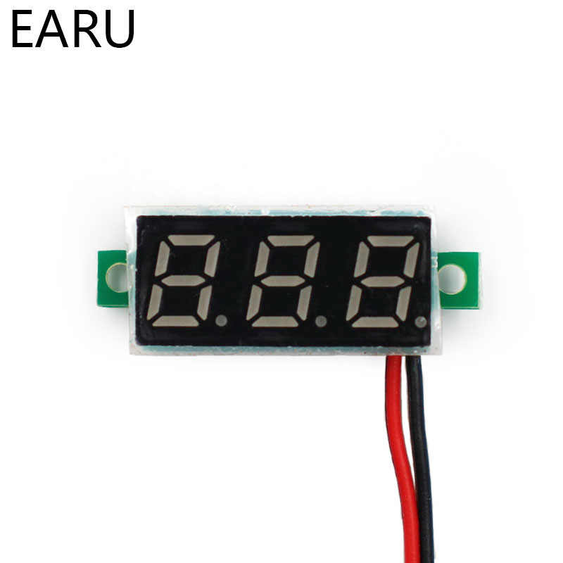 Mini Voltmetro Digitale di Tensione Tester del Tester 0.28 Pollici 2.5 V-30 V Schermo A LED Parti Elettroniche Accessori Voltmetro Digitale