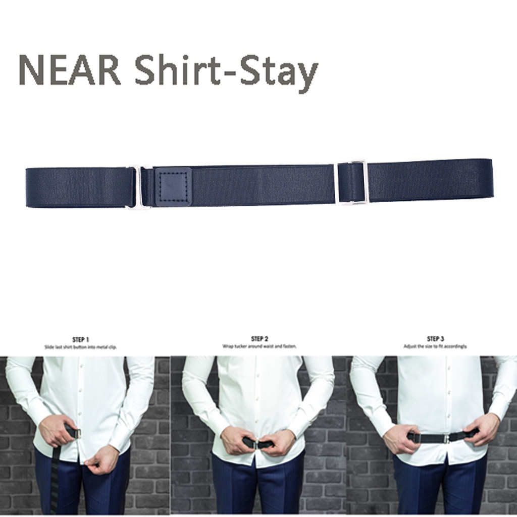 Mens Shirt Stays Belt Leather Adjustable  Non-slip Elastic Waist Belt Men Suspenders Shirt Holders Hot Sale