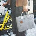 D-parque Ligera Delgada 12.1, 13.3, 14.1, 15.6 pulgadas Portátil Bolsa de Ordenador portátil para Los Hombres de Las Mujeres Hombro maletín Bolsa de Mensajero