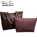 2016 New Double luxury shoulder women's bags designer PU leather women messenger tote Bag ladies leather bolsa feminina