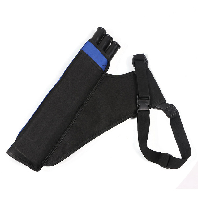 Three Tube Arrow Quiver Bag Archery Bow Arrow Waist Hanging Adjusted Belt Arrow Holder Pouch for Hunting Shooting Accessories