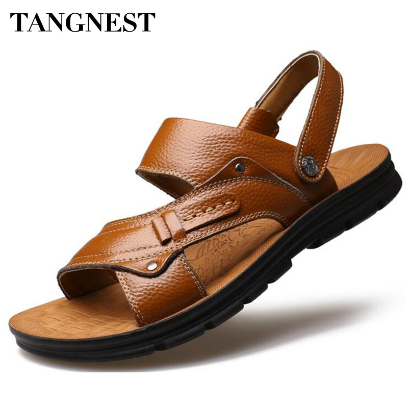 Size 36-46 Mens Buckle Open Toe Roman Sandals Shoes Casual Beach Slippers Flat B