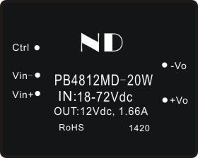 все цены на  4:1 Wide voltage input dc dc converter48v to 12v 1.66a dc-dc step down power module supply free shipping  онлайн