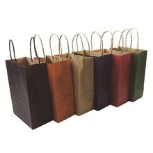 1 Pcs/lot High-end Kraft Paper Bag Shopping Bags DIY Multifunction Festival Gift Paper Bag With Handles 21x15x8cm 10 pcs lot festival gift kraft bag hot pink shopping bags diy multifunction recyclable paper bag with handles 7 size optional