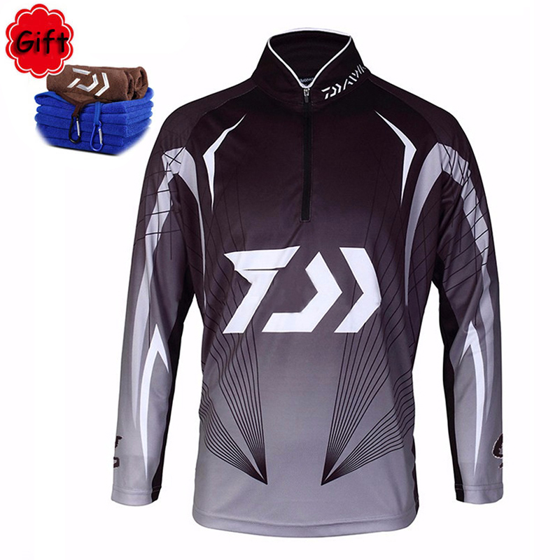 Summer Men Fishing Clothing Moisture Wicking Fishing Jacket Quick Dry Breathable Long Sleeve Riding Fly Fishing Coat Free Gift