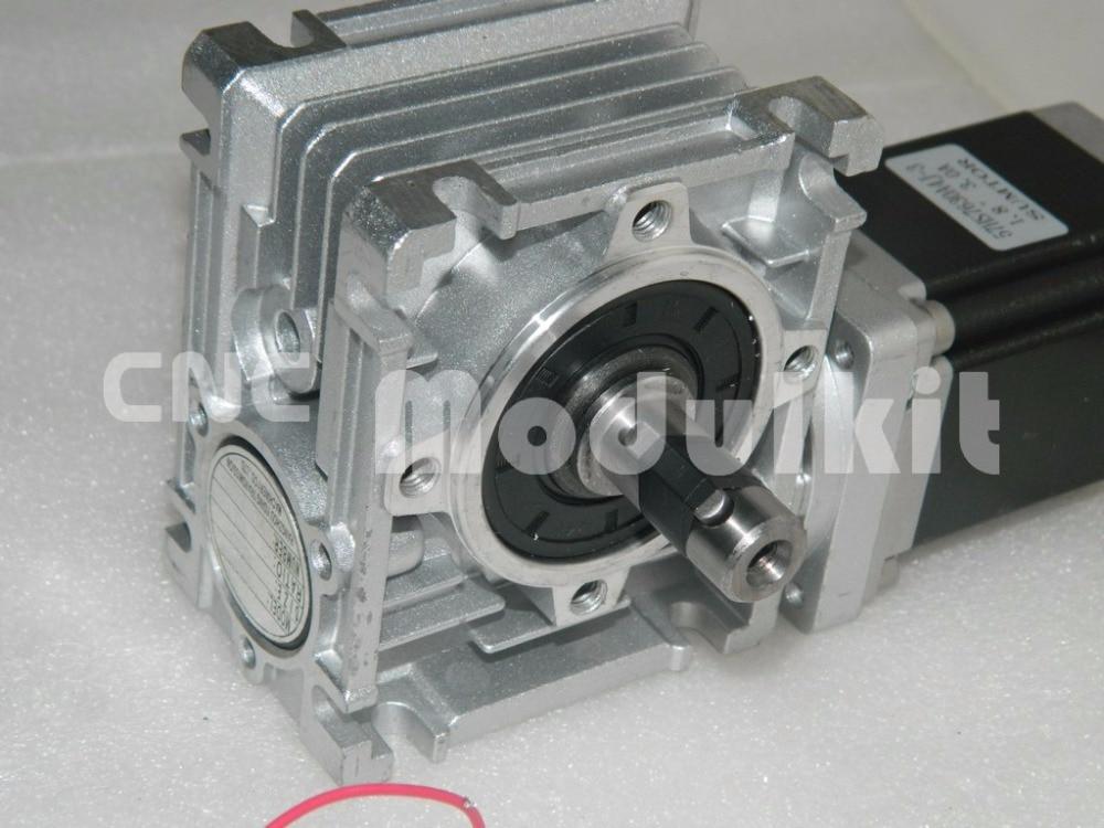 NMRV030 Worm Gear Worm Reducer Nema 23 Stepper Motor Turbine 57 x 57 Reducer Gearbox Output Shaft 14mm Planet Motor CNC MODULKIT
