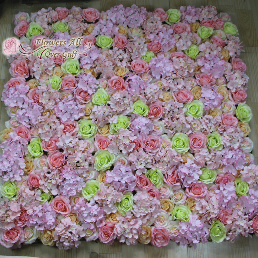 Flowers All Over Gulf Premuim Silk Flower Wall Hire Fl Rose Wedding Stage Backdrop Luxury Decor In Artificial Dried From Home Garden On