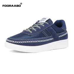 Fooraabo hot sale breathable men casual shoes new 2017 spring lace up canvas mens trainers design.jpg 250x250