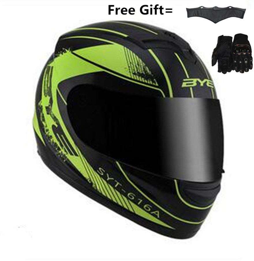 Motorcycle Helmets For Sale >> Us 14 85 10 Off Hot Sale Bye Motorcycle Helmet Full Moto Helmet With Inner Sun Visor Safety Lens Racing Full Face Helmets S 55cm To 56cm In Helmets