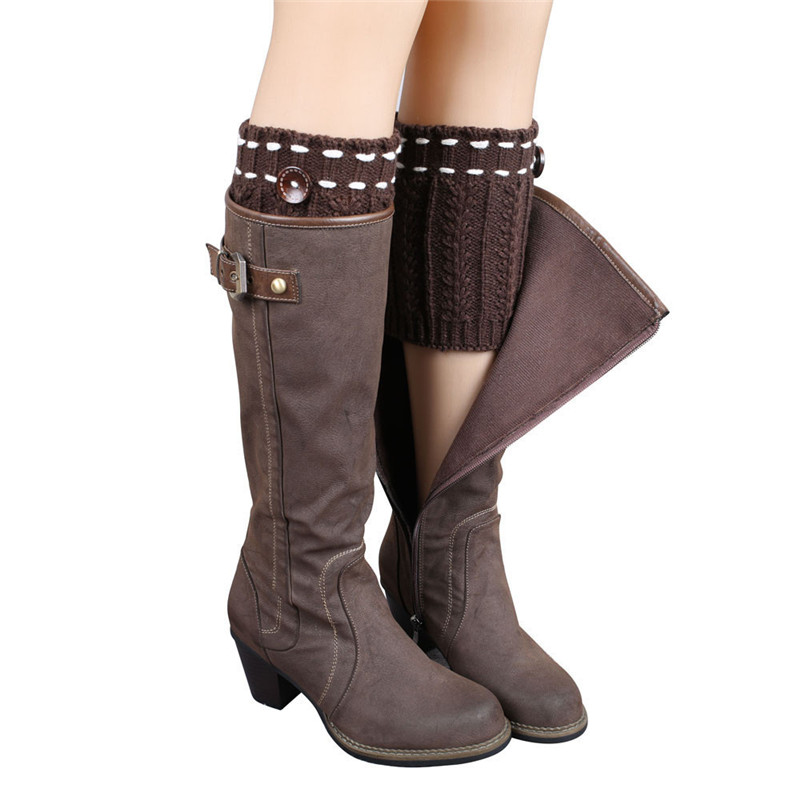 2017 Hot Sale New Women Ladies Crochet Knitted Shell Design Boot Cuffs Toppers Knit Leg Warmers Winter Short Liner Boot Socks