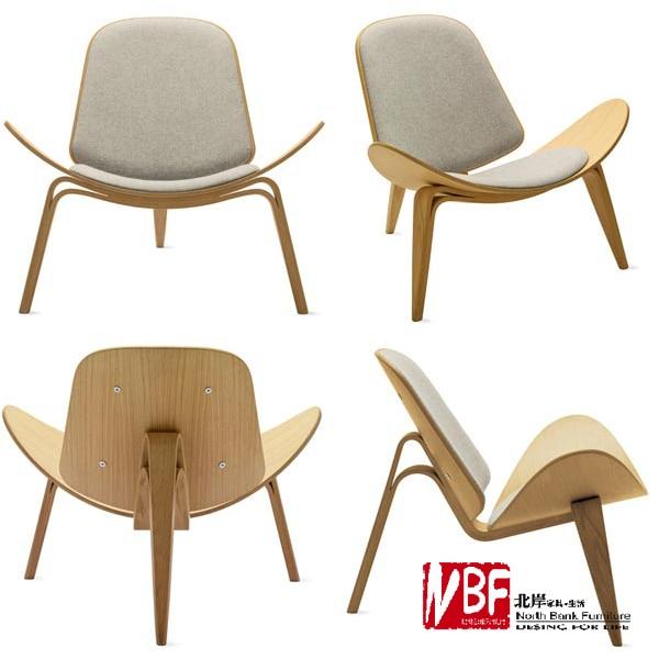 noordkust meubels vliegtuig stoel modern sofa minimalistische gebogen hout fauteuil stoel slaapkamer stoel recreatie salon