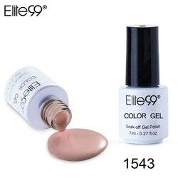 Elite99 7 ml UV serie de Color puro Gel esmalte de uñas de larga duración esmalte de uñas Vernis Semi permanente imprimación de uñas gel de barnices