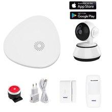 Wofea ev güvenlik wifi alarm sistemi ile mesaj itme APP kontrol çalışma kablosuz sensörler ile ve wifi IP kamera