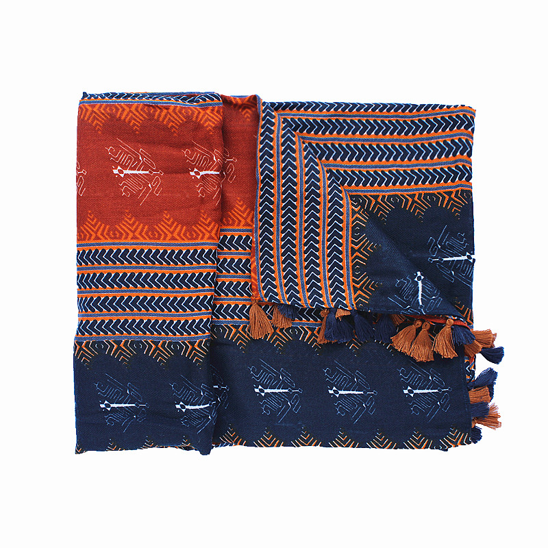 Red Blue Striped Scarf | Shawls and Wraps | Upto 60% Off Now