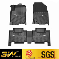 Car floor mats For Toyota RAV4 with 3w Customized Special tpe,black