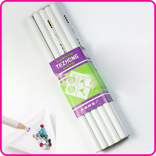 WUF Promotion New Arrival High Quality 4 X Nail Art Rhinestones Gems Picking Tools Pencil Pen Pick Up Pen