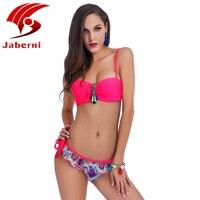 Bikini Push Up Green Beachwear Women Shoulder Strap Ladies Swimming Swimsuit 2017 New Biquini Maillot De