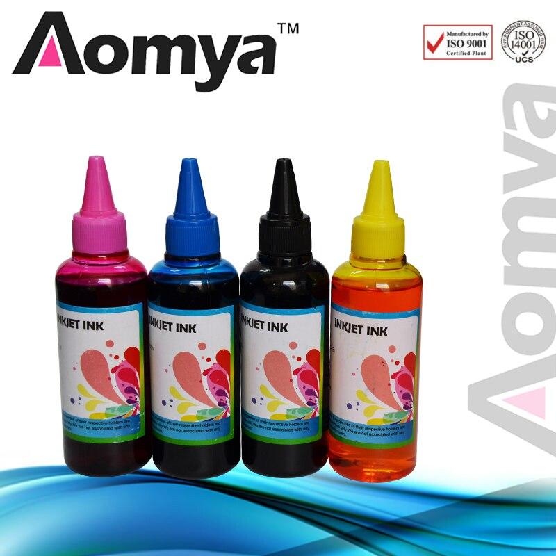 Комплект для заправки чернил Aomya, 4 Х100 мл, совместимый с HP 88 Officejet PRO K550 K8600 L7780 L7580 L7590 L7680