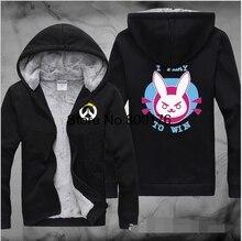 Inverno Venda Quente Hoodies Overwatchs Cosplay Com Capuz Espessamento Jaqueta Com Suéter de Cashmere Dentro Inverno Quente Hoodies M-5XL