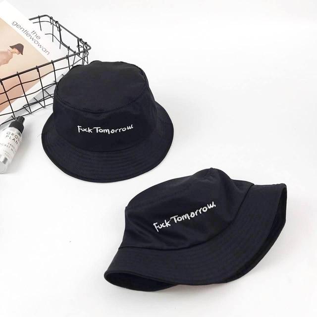 3d425136 VORON Bucket Hat Fashion Letter tomorrow Embroidery Fisherman Hats Men  Women Cotton Street Hip Hop Bucket Hat Fishing Cap