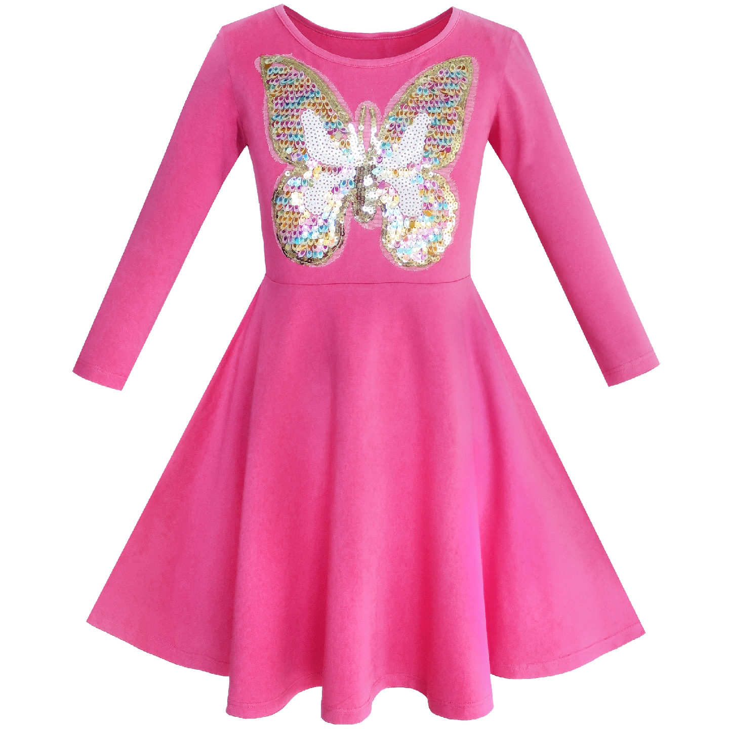 Girls Dress Owl Ice Cream Butterfly Sequin Everyday Dress Cotton 2019  Summer Princess Wedding Party Dresses Girl Clothes Pageant 079152e79872