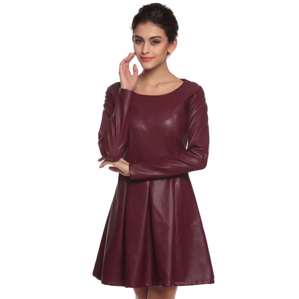 Online Buy Wholesale long leather dresses from China long leather ...