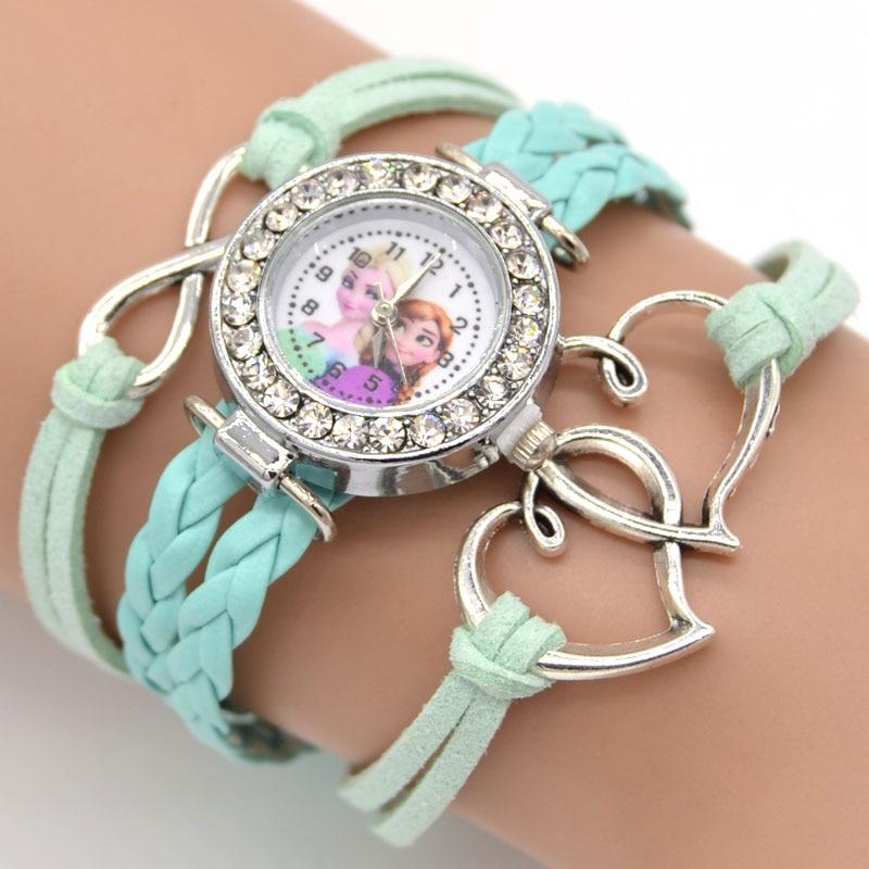 Mode smycken tecknad figur tjejer hjärta charm armband barn gåva - Märkessmycken