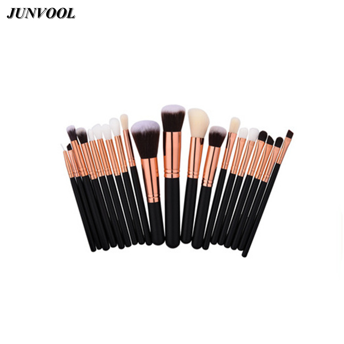Fashion Make Up Brush Tools Kit 20pcs Rose Gold/Black Professional Makeup Brushes Set Foundation Powder Definer Shader Liner 10pcs tooth brush shape oval makeup brush set multipurpose makeup brushes professional foundation powder brush kits make up tool
