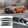 4 шт. Лезвия Боковые Окна Дефлекторы Дверь Солнцезащитный Козырек Щит Для Audi Q3/Q5/Q7