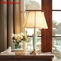 Современные Керамические настольные лампы для спальни Настольная лампа с абажуром Прикроватная лампа настльная светильник в гостиную нас...