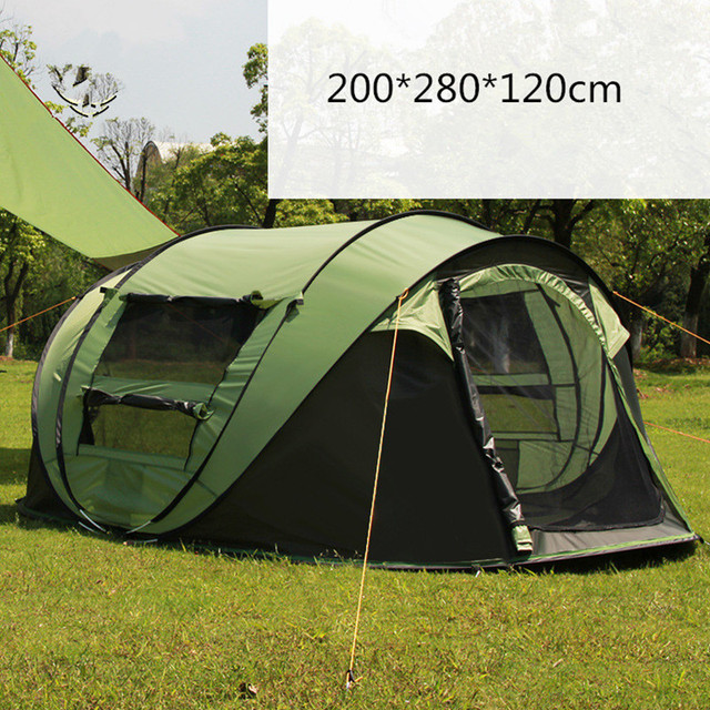 3-4 Person 200*280*120cm Travel Hiking Tents Waterproof Windproof Instant Automatic & 3 4 Person 200*280*120cm Travel Hiking Tents Waterproof Windproof ...