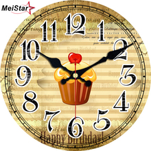 hot deal buy meistar vintage wall clocks food tableware design silent kitchen room decor home decor watches large wall clocks reloj de pared