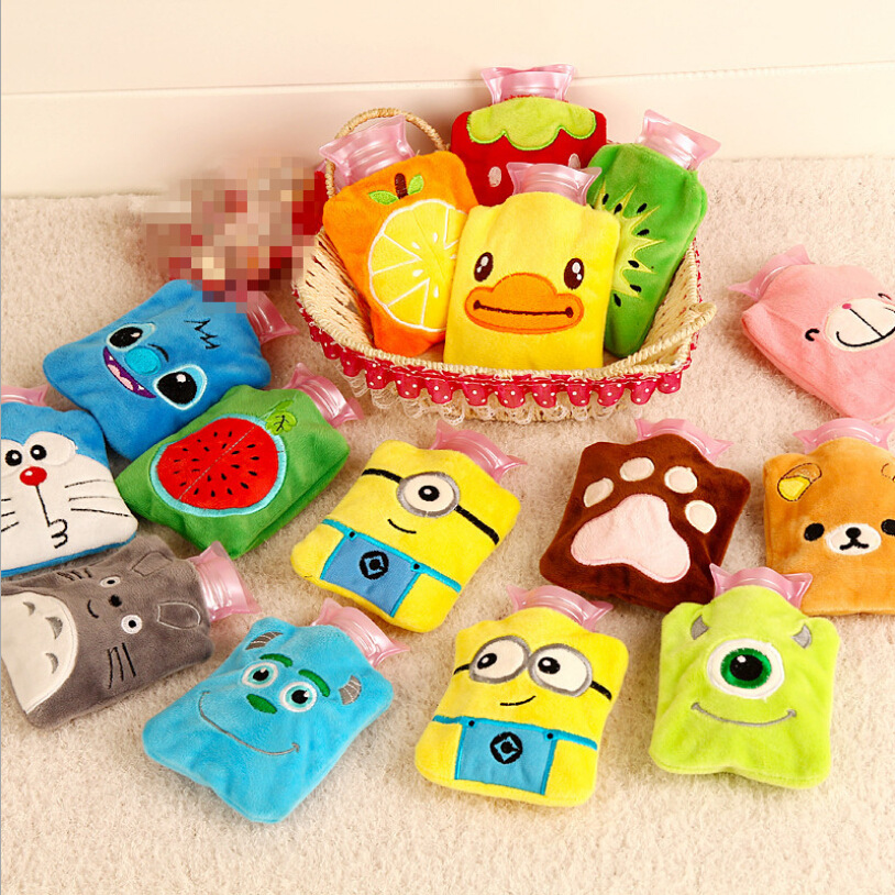 Cute Cartoon Hand Warm Hot Water Bottle Mini Hot Water Bottles Portable Hand Warmer Girls Pocket Hand Feet Hot Water Bags