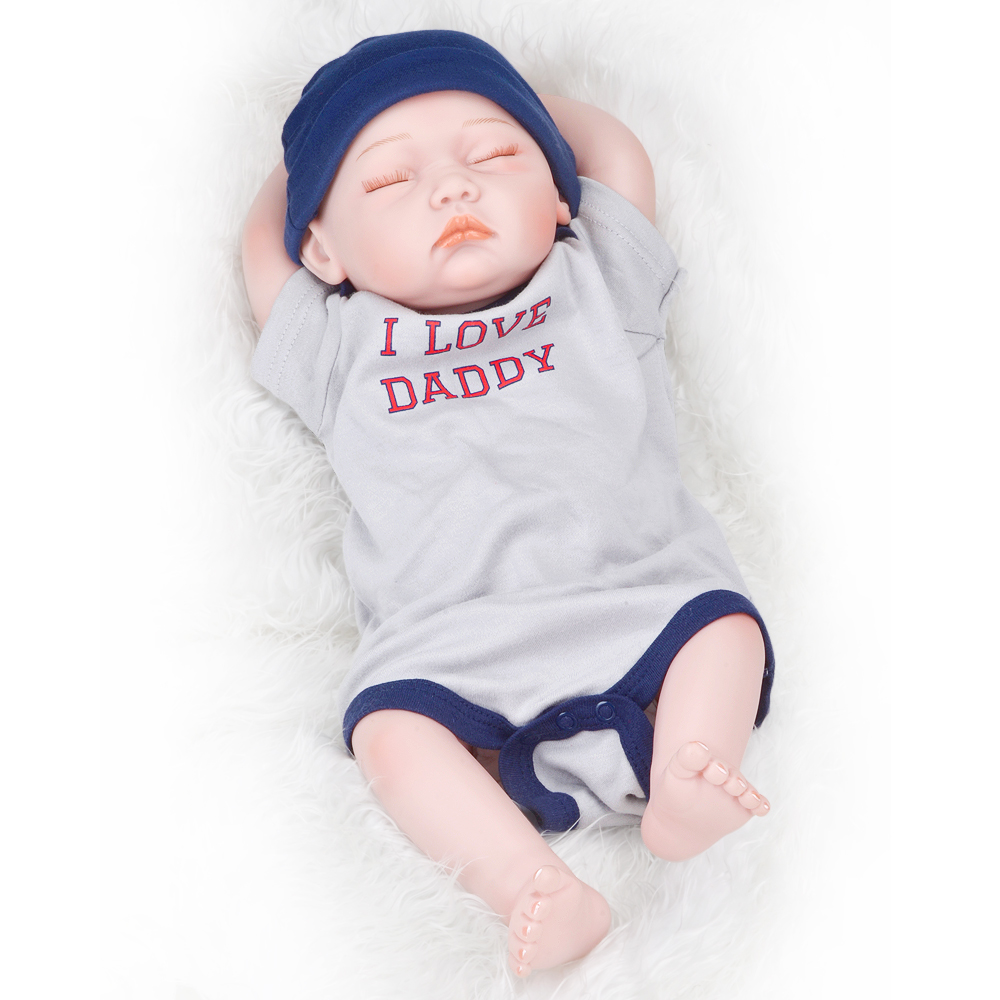 20/'/' Full Body Silicone soft Realistic Reborn Baby Boy Doll Handmade Lifelike
