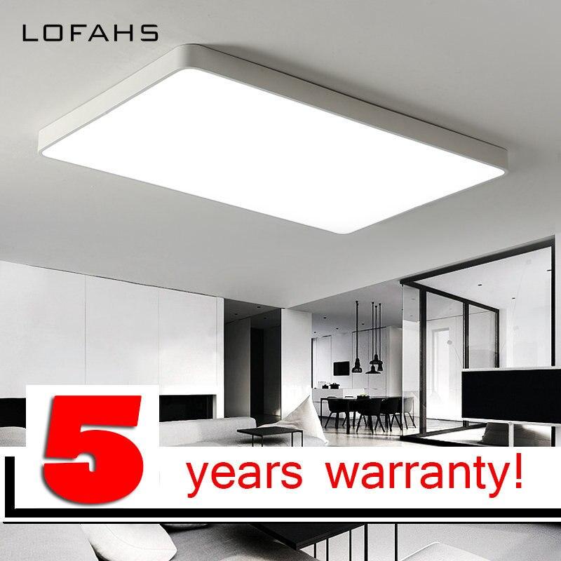 LOFAHS Rectangle Aluminum Modern Led Ceiling Lights For Living Room Bedroom Ceiling-lights White/Black Ceiling Led-lamp