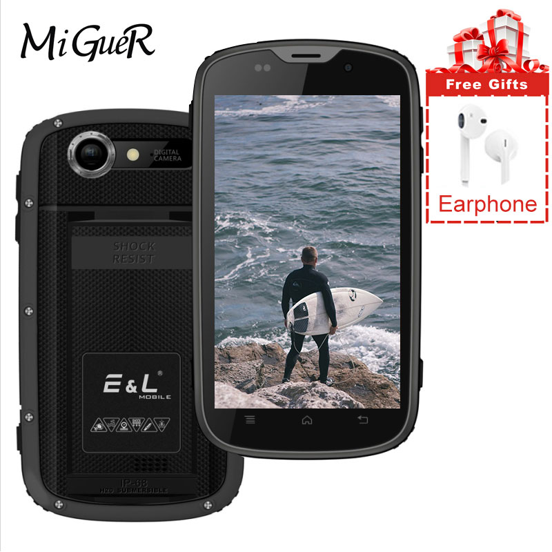EL 8GB 1GB Adaptive Fast Charge 5mp New GPS Cellphone Quad-Core Ip68 Waterproof Android-6.0