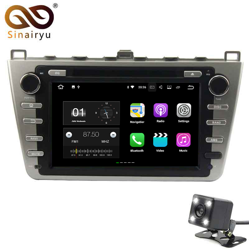 Sinairyu 2 г Оперативная память Android 7.1 автомобильный DVD для Mazda 6 2008 2009 2010 2011 2012 Octa core 16 г встроенная память Радио GPS навигации игрока головное устро...