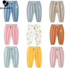Chivry 2019 Summer Baby Girls Cotton Linen Solid Bloomers Pants Infant Kids Boys Casual Breathable Trousers