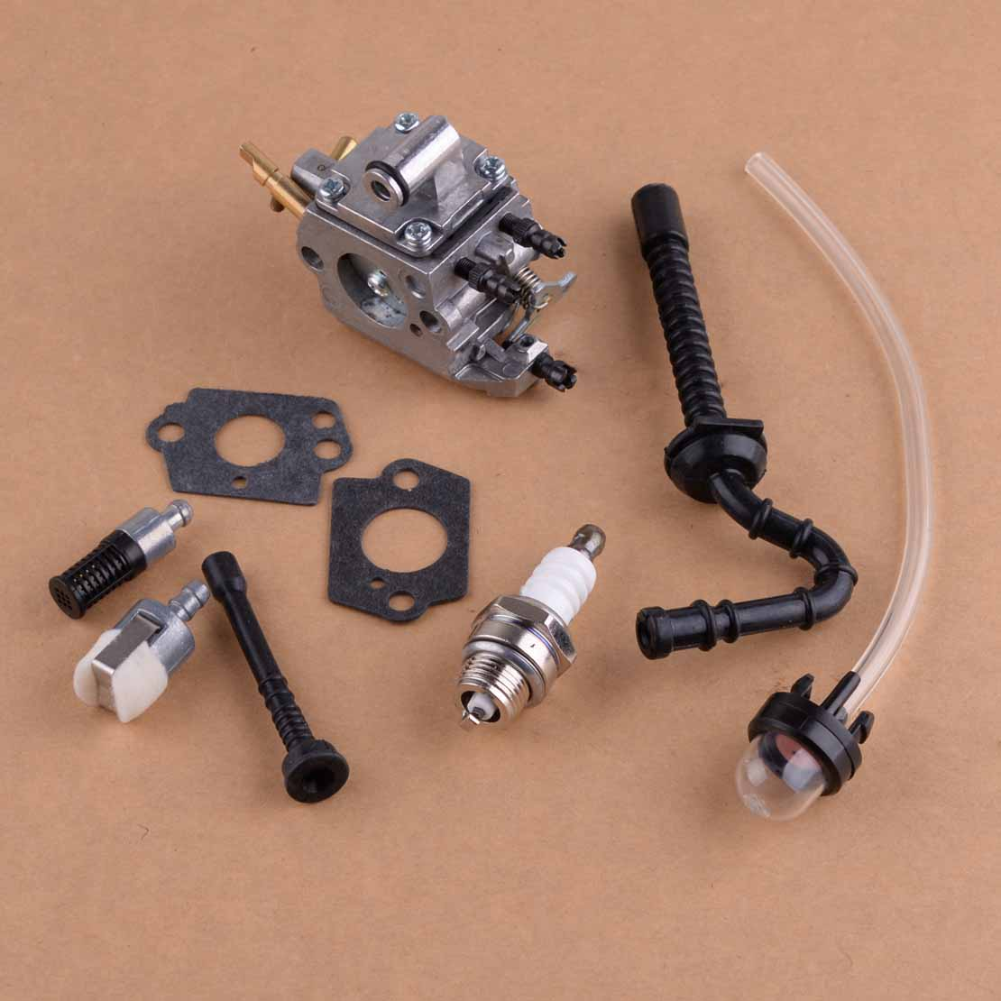 LETAOSK 9pcs Carburetor Carb Tune Up Kits 1137 120 0650 Fit for Stihl MS192T MS192TC Chainsaw Zama C1Q S258