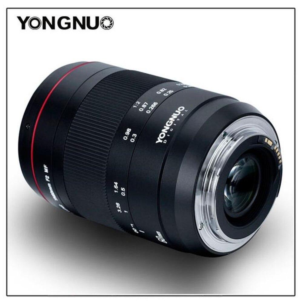 2018 Nouveau YONGNUO Lentille YN60mm F2 MF 0.234 m Mise Au Point Manuelle Macro objectif pour canon EOS 70D 5D2 5D3 600D DSLR Caméra lentille