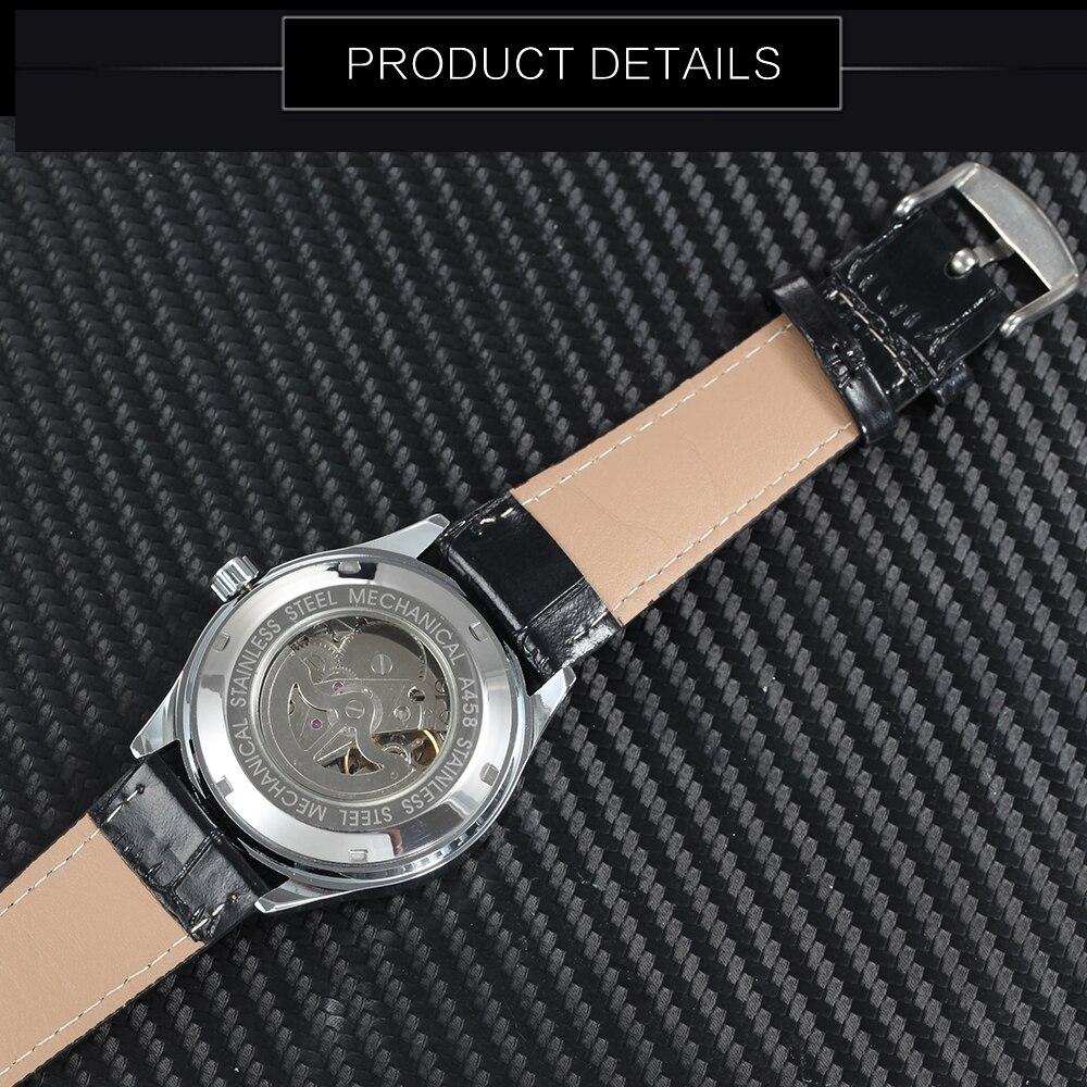 Moda masculina do vencedor relógios mecânicos automáticos
