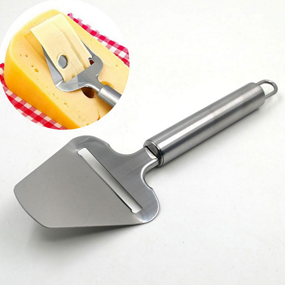 High Quality Stainless Steel Cheese Cutter Cheese Butter Plane Slicer Cake Pizza Shovel Cheese Graters Kitchen Tools Free Ship