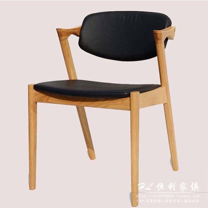 Aliexpress Buy IKEA Scandinavian minimalist modern white oak wood chair backrest creative leisure wood office chair puter chair assembly from