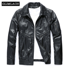Chaqueta de motociclista de cuero genuino de lujo para hombre de Italia, chaqueta de vuelo de piel de oveja de alta calidad, chaqueta negra ajustada