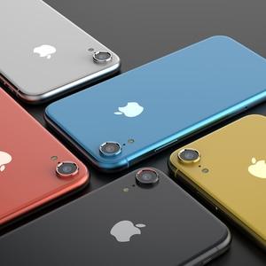 Image 4 - Tylna osłona obiektywu do aparatu iPhone XR 6D folia ze szkła hartowanego + metalowa osłona tylnego obiektywu osłona skrzynki akcesoria