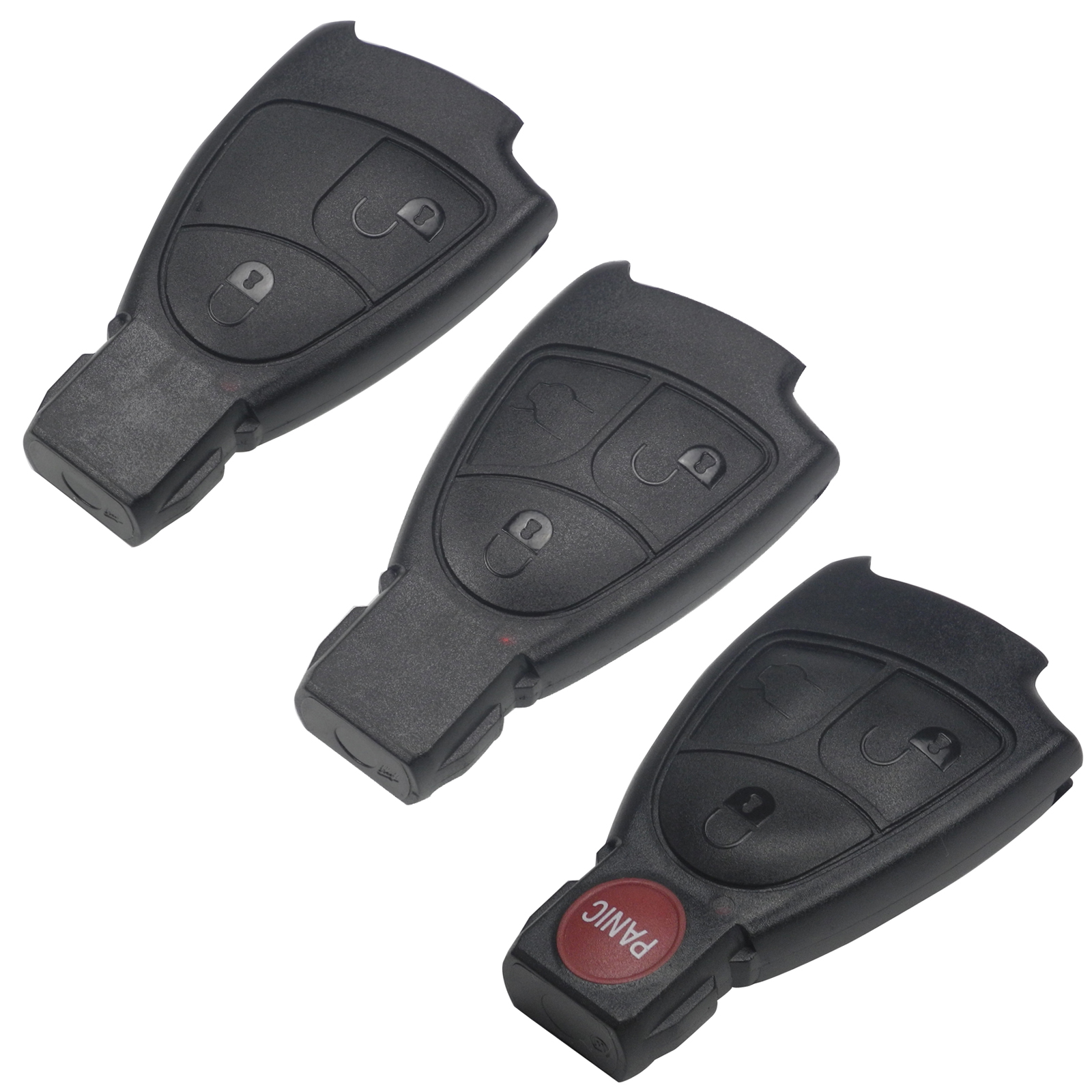 maizhi 2/3/4 Buttons Replacement Smart Remote Car Key Shell Case FOB for Mercedes Benz B C E ML S CLK CL Smart Key No Logo centurion smart 1 smart 2 smart 4 replacement remote control