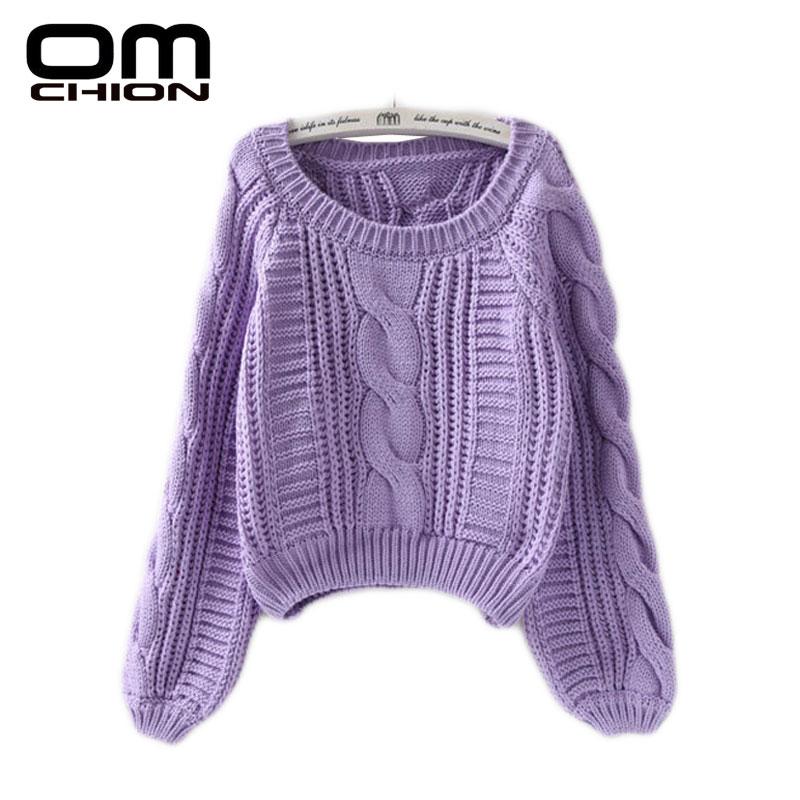 OMCHION Neue 2018 Herbst Winter Twist Weiche Casual Frauen Pullover Und Pullover Laterne Hülse Kurze Pullover Lose Pull Femme SW96