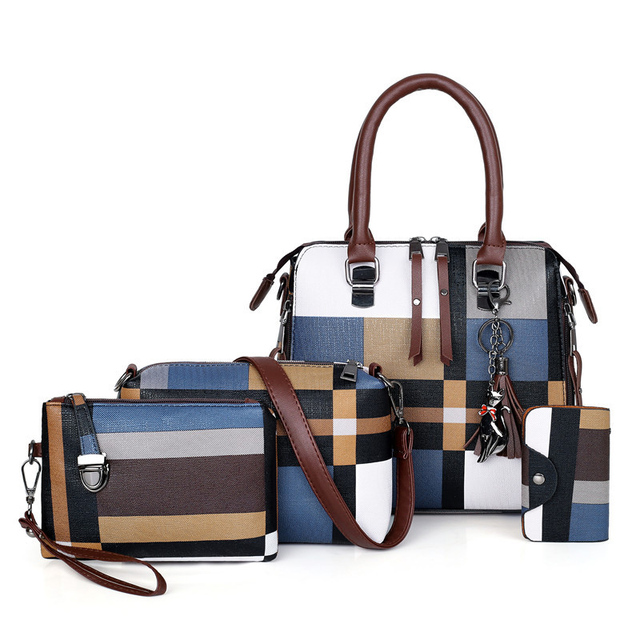 SMOOZA Handbags Plaid Women...